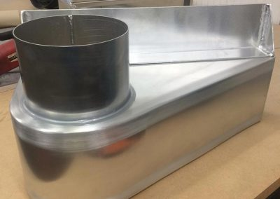 Aluminium duct inlet