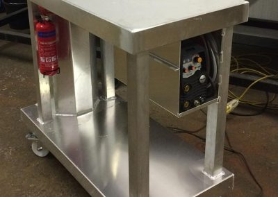 Aluminium site trolley for welder