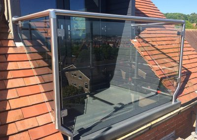 St. steel and glass balustrade