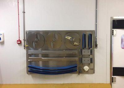 Sterilised machine components holder