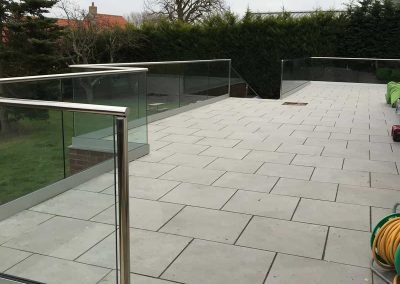 Glass and Stainless Steel patio balustrade