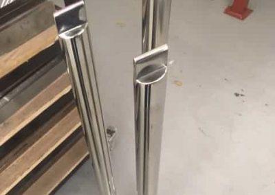 Hand made handrail posts