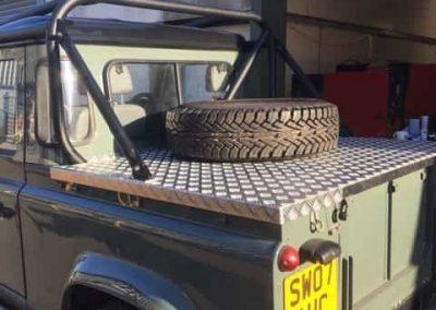 Land Rover rear cover